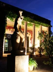 Facade of EUVS at night